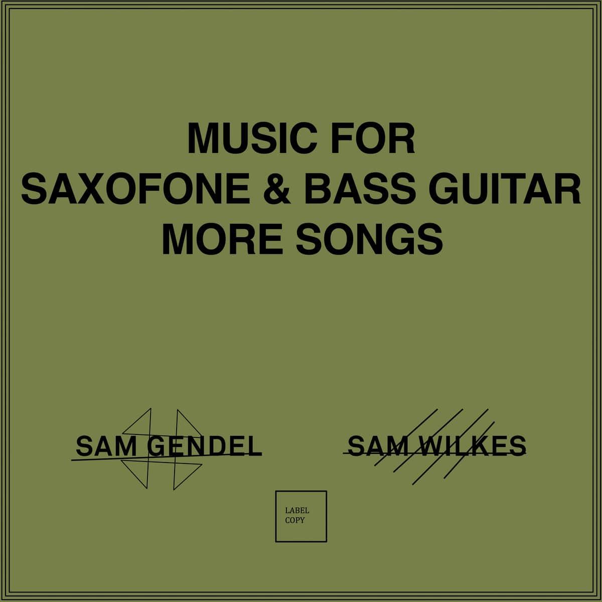 sam gendel sam wilkes music for saxofone bass guitar more songs
